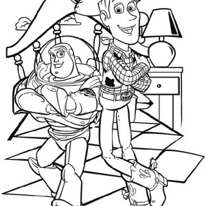 toy story buzz and woody are two best budd coloring page buzz and woody