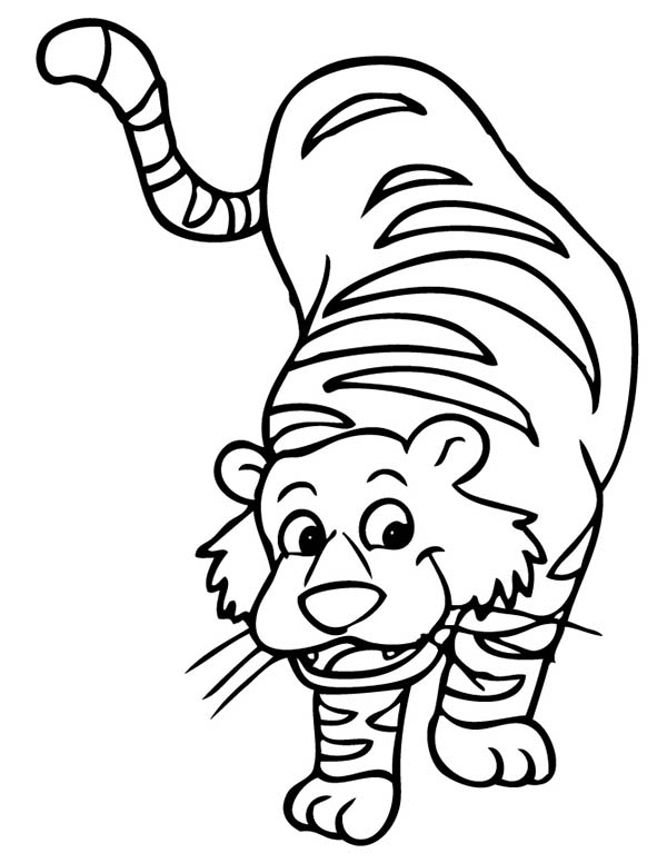 tiger coloring pages cartoon - photo#5