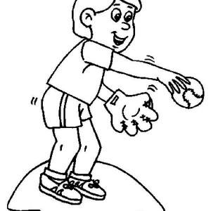 jump catching a baseball coloring page jump catching a baseball