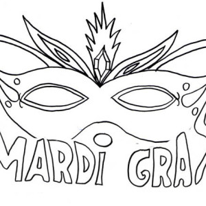 Celebrating Mardi Gras on Ash Wednesdey Coloring Page