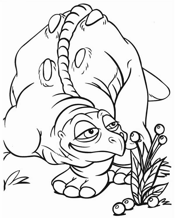 Cera father land before time family coloring page for The land before time coloring pages