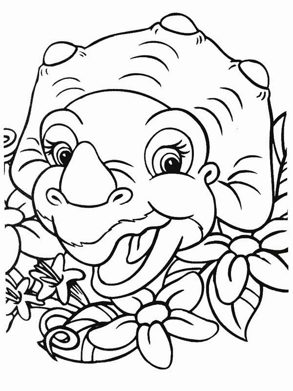 cera laugh land before time coloring page - Land Before Time Free Coloring Pages