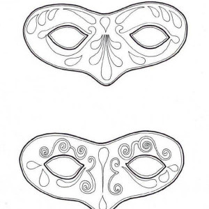 An Art Painting Mask for Mardi Gras Coloring Page An Art Painting