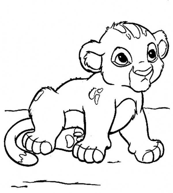 Cute Little Simba Coloring Page - Download & Print Online Coloring ...