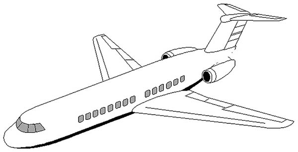 Airplane dc 9 airplane coloring page jpg