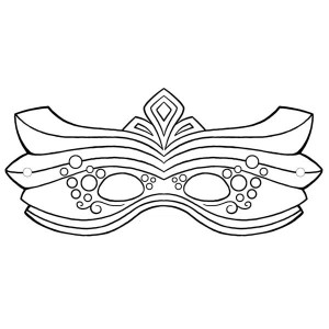 Decorative Mardi Gras Mask for the Parade Coloring Page