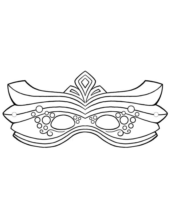 Decorative Mardi Gras Mask for the Parade Coloring Page - Download ...