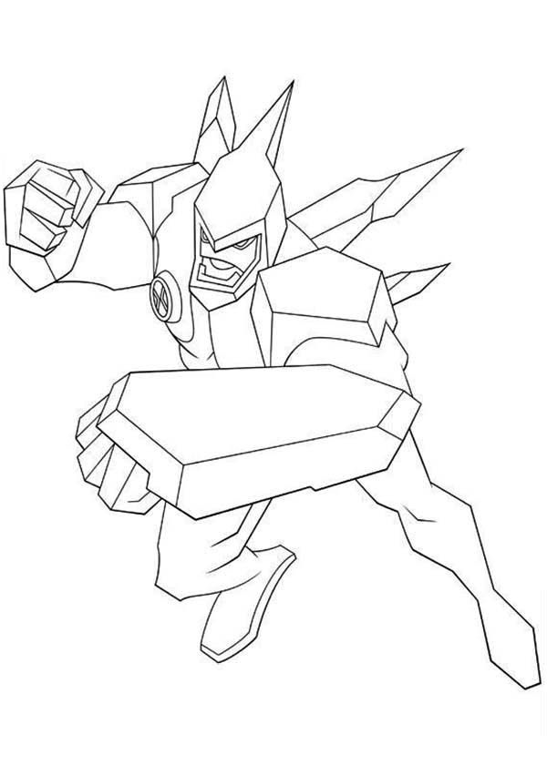 Diamondhead from Ben 10 Omniverse Coloring Page Download Print