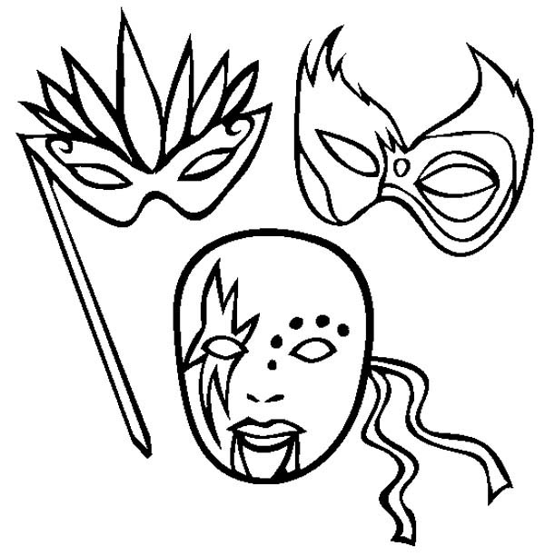 Mardi gras masks drawings images for Different coloring pages