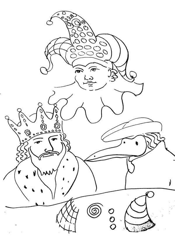 Mardi Gras King Coloring Pages - Worksheet & Coloring Pages