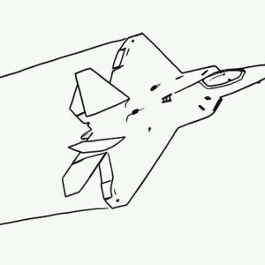 F35 jet fighter airplane coloring page
