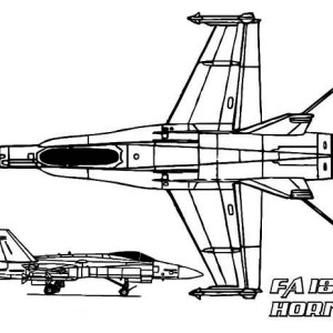 FA 18 Hornet jet fighter Airplane Coloring Page