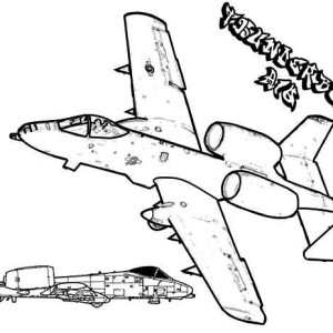 Fairchild A 10a Thunderbolt Airplane Coloring page
