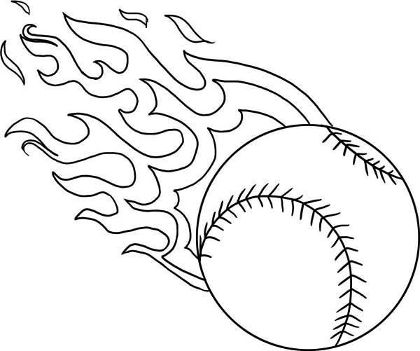 Fire Baseball Coloring Page Fire Baseball Coloring Page Color