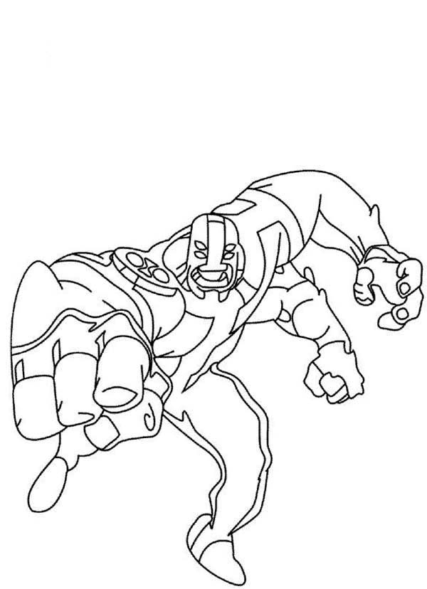 Four Arms from Ben 10 Omniverse Coloring Page Download Print
