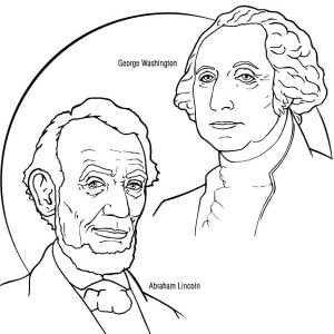 presidents day george washington and abraham lincoln for presidents day coloring page george washington
