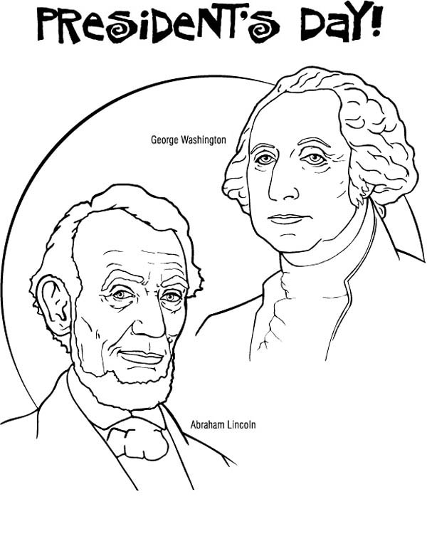 Presidents Day Coloring Pages Printable George Washington And Abraham Lincoln For Presidents Day Coloring .