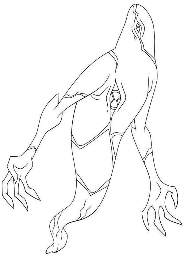 Ben 10 Ghostfreak From Omniverse Coloring Page