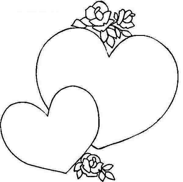 Giving a heart shaped gift box on valentines day coloring page