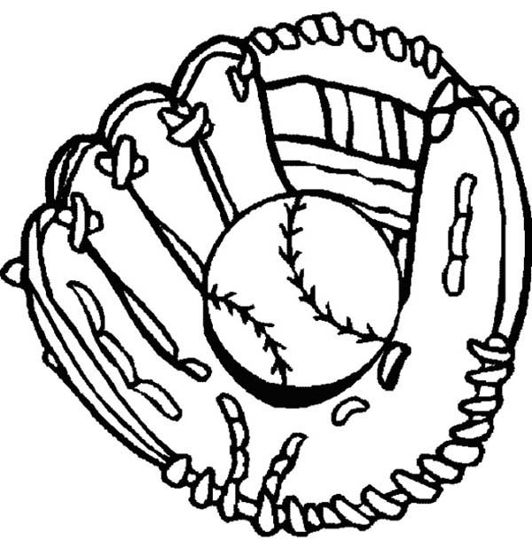 baseball glove coloring pages - photo#3