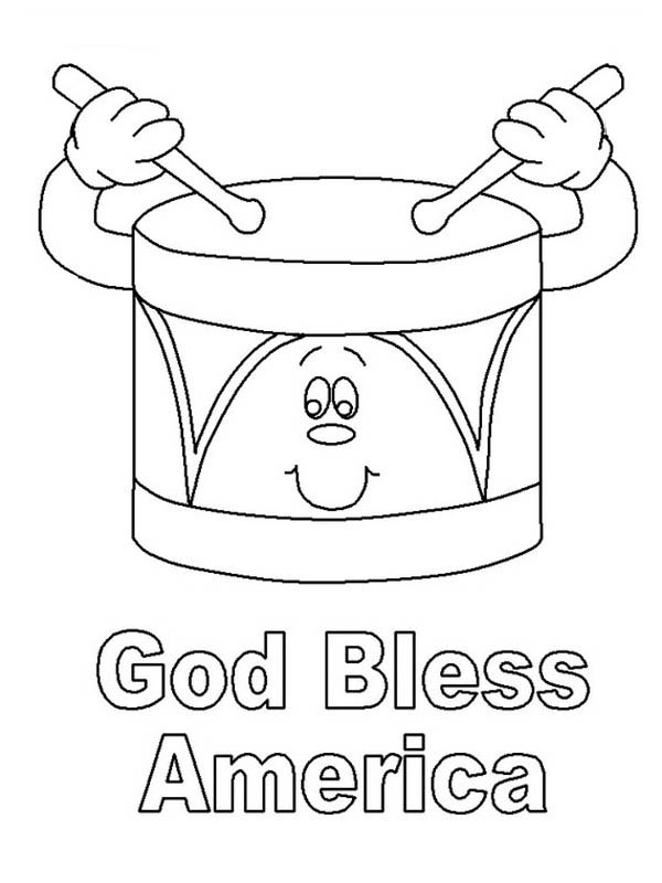God Bless America on Presidents Day Coloring Page - Download ...