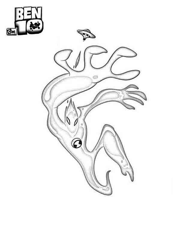 Goop from Ben 10 Alien Force Coloring Page - Download & Print ...