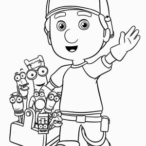 greeting from handy manny and friends coloring page - Handy Manny Hammer Coloring Pages