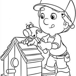 handy manny making bird house coloring page - Handy Manny Hammer Coloring Pages