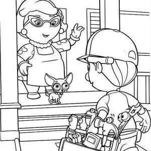 Handy Manny Meet Mrs Portillo Coloring Page