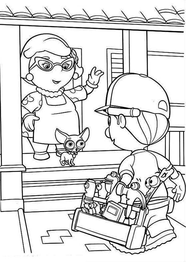 Pin 2014 Handy Manny Coloring Pages On Pinterest
