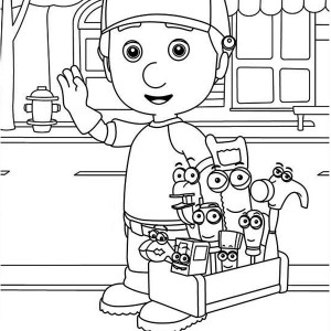 handy manny and friends around the town coloring page - Handy Manny Colouring Pages