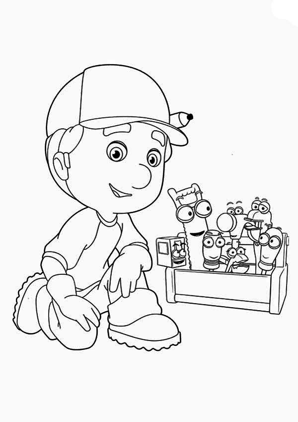 Handy Manny Hammer Coloring Pages