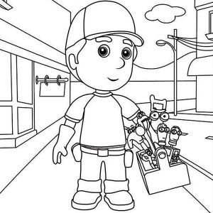 handy manny and friends coloring page - Handy Manny Hammer Coloring Pages