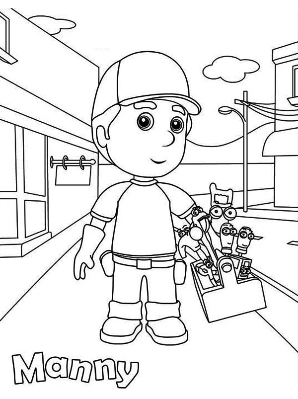 handy manny and friends coloring page - Handy Manny Colouring Pages