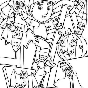 handy manny handy manny and helloween theme coloring page handy manny and helloween theme