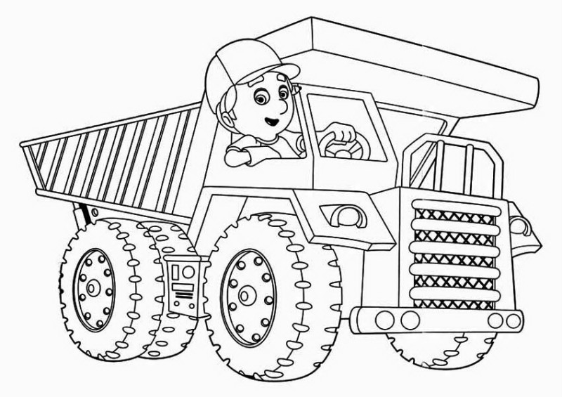 handy manny handy manny and truck coloring page handy manny and truck coloring pagefull - Handy Manny Colouring Pages