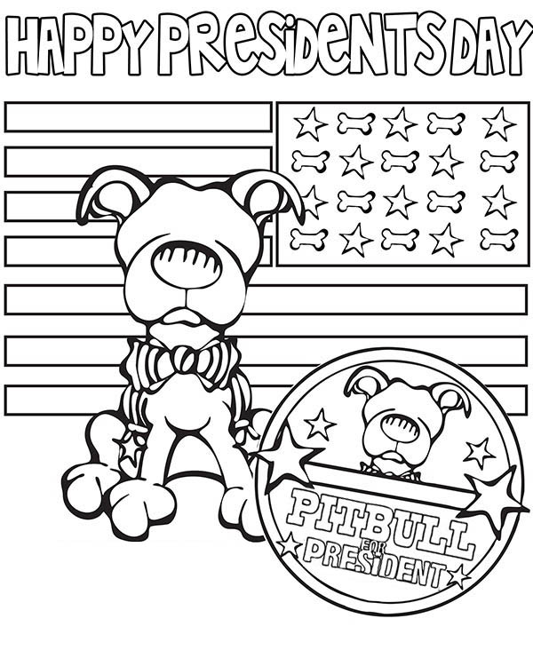 presidents day happy presidents day say the pitbull coloring page happy presidents day say - Pitbull Coloring Pages