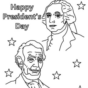 presidents day happy presidents day with lincoln and washington coloring page happy presidents day