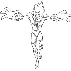 ultimate heatblast coloring pages - photo#4