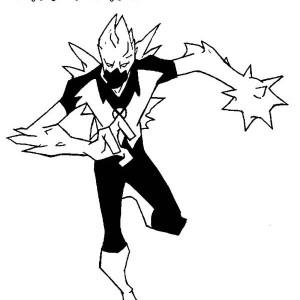 Icepick from Ben 10 Fan Fiction Coloring Page