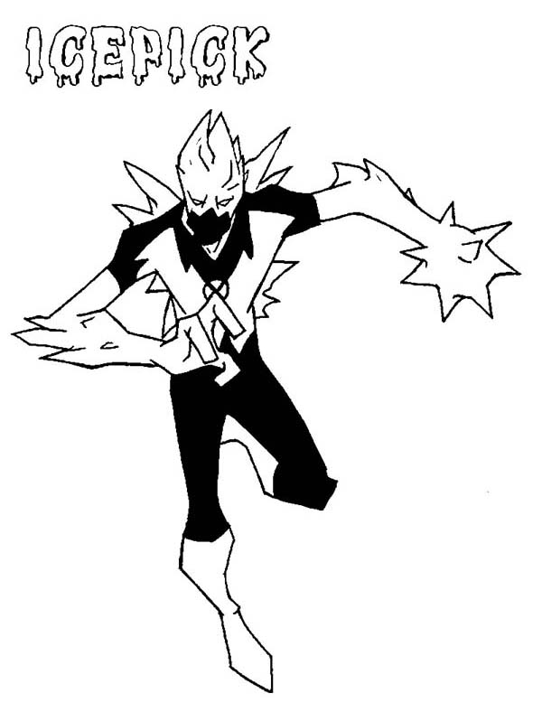 Ben 10 Icepick From Fan Fiction Coloring Page