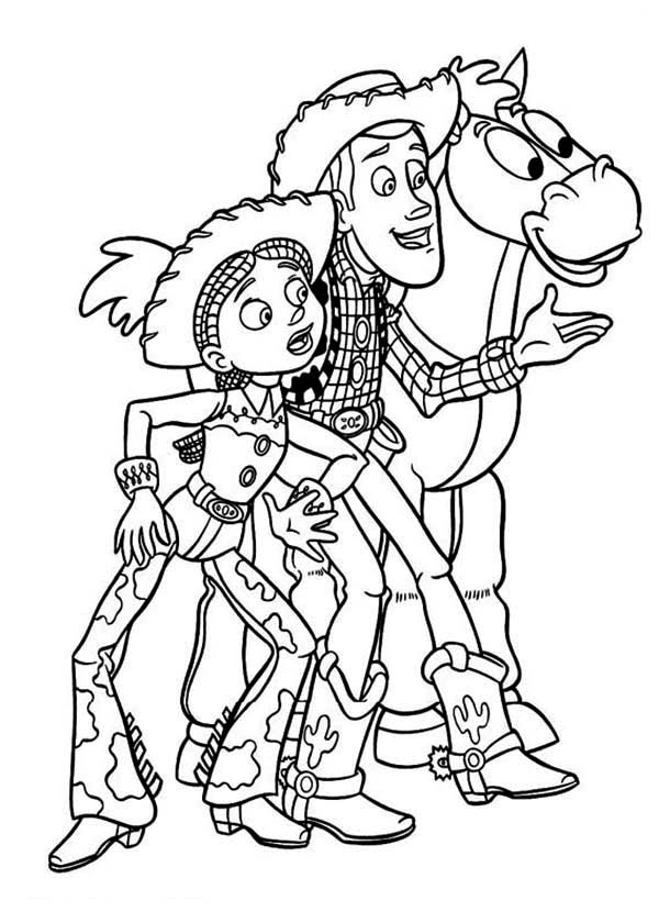 Little jessie toy colouring pages for Bullseye coloring page