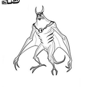 jetray from ben 10 alien force coloring page