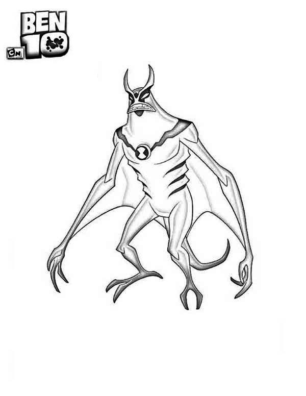 Jetray from Ben 10 Alien Force Coloring Page Download Print