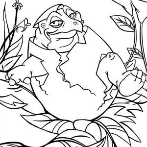 Land Before Time Baby Born Spike Coloring Page