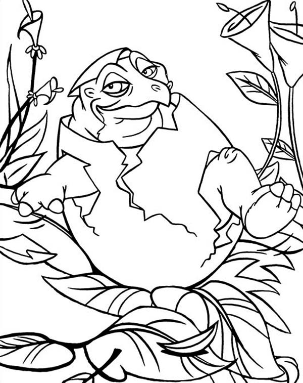land before time baby born spike coloring page - Land Before Time Free Coloring Pages