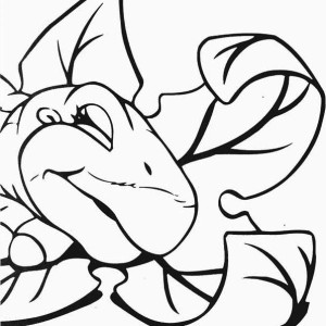 Land Before Time Family Little Foot is Sleeping Coloring Page