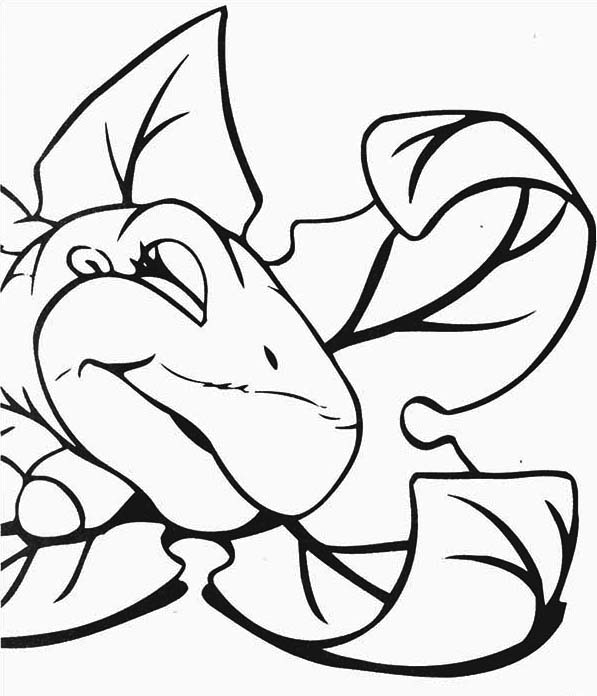 land before time family little foot is sleeping coloring page - Land Before Time Free Coloring Pages