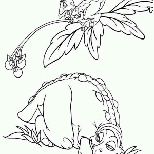 Land Before Time Family Petrie Give Cera Father Fruits Coloring Page