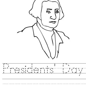 Learn to Write Presidents Day Coloring Page